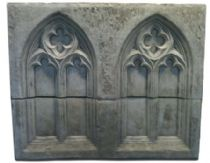 Garden folly double full Gothic wall panel